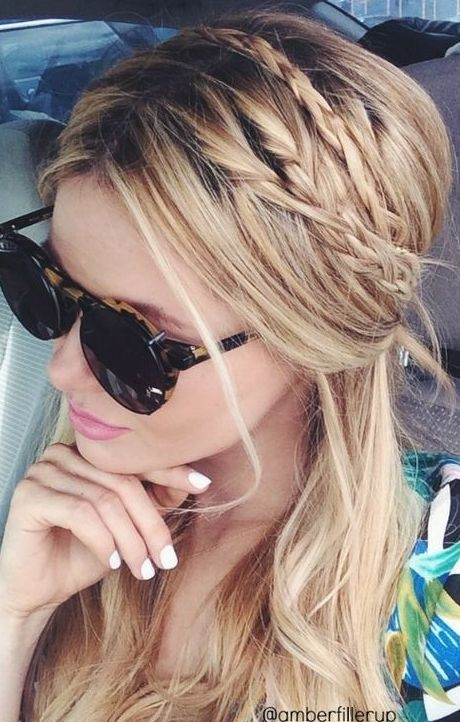 Nice ponytail with braids for long hair