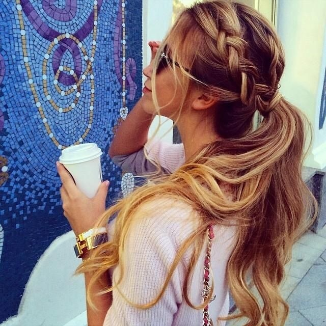 Braided ponytail for summer hairstyles