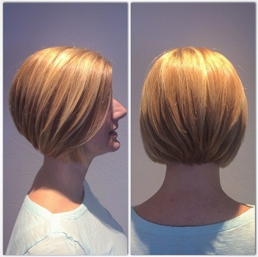 Classic bob hairstyle for blonde hair