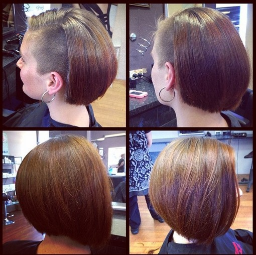 Bob hairstyle with undercut