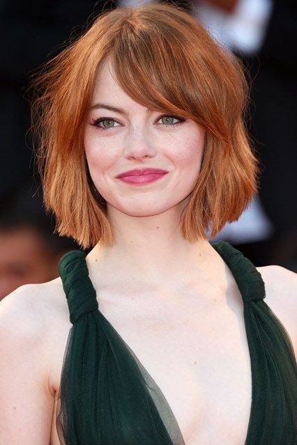 Dull bob hairstyle with bangs
