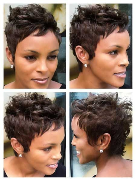 Cool pixie haircut for black women