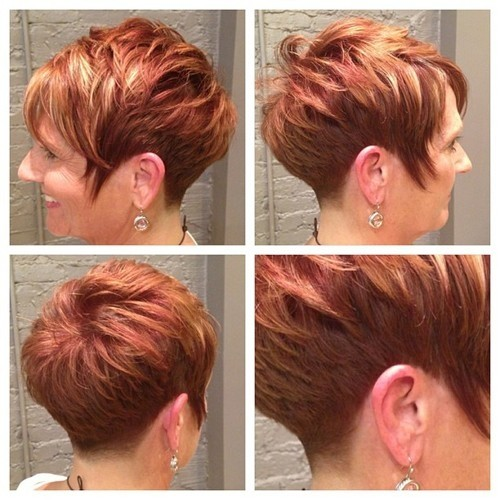 Short curly hairstyle for women over 50