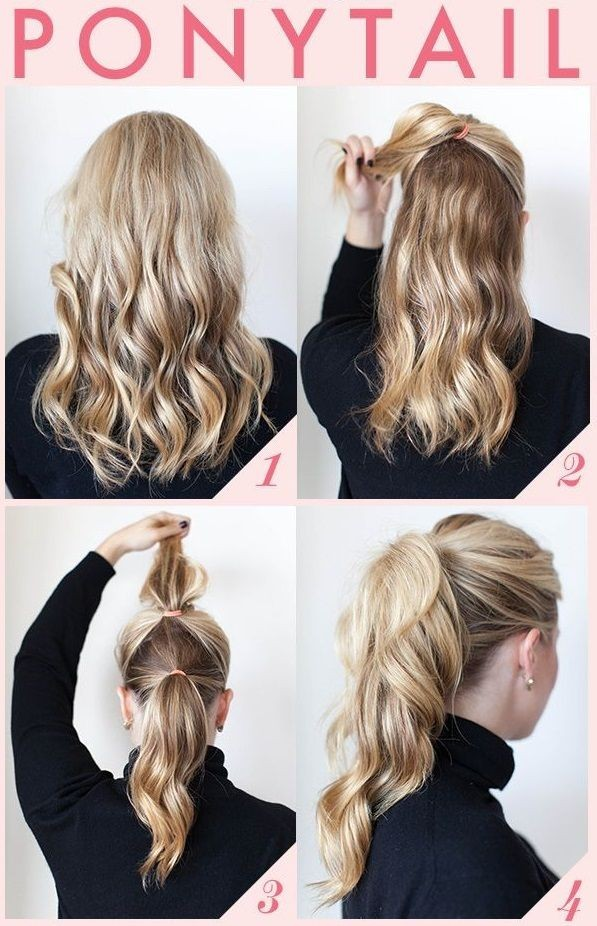 Double high ponytail