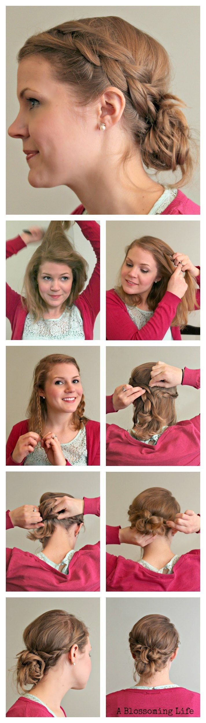 Messy Braided Updo Tutorial