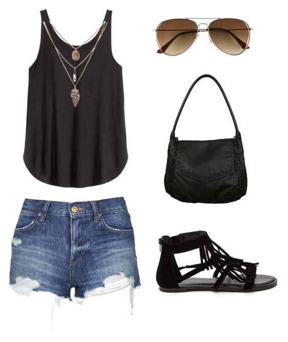 Black vest and shorts over