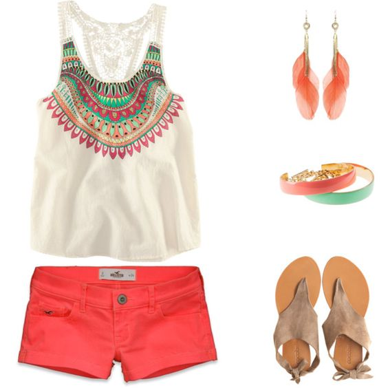Bright outfit over