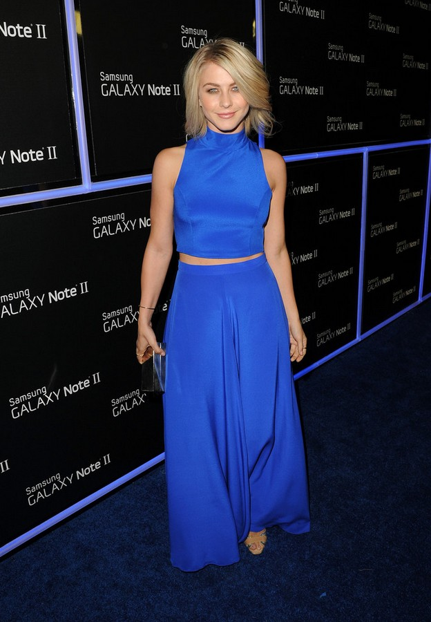 Julianne Hough Blue Crop Top by Naven
