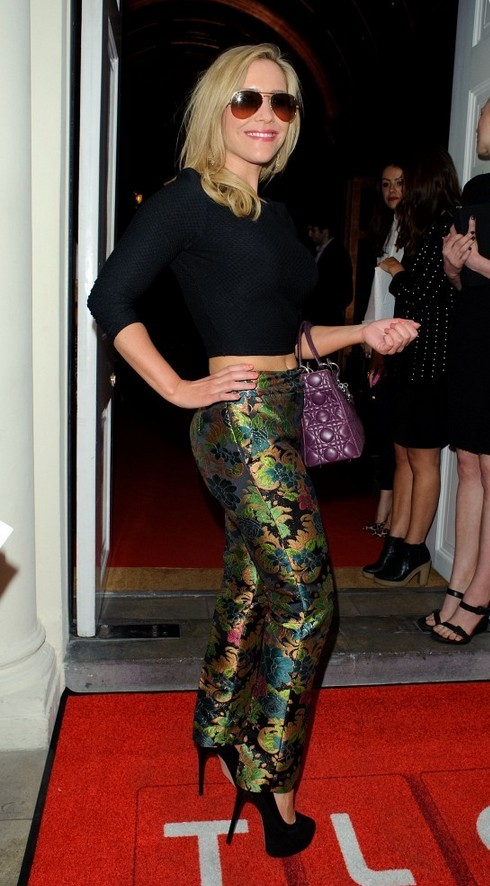 Heidi Range Black Crop Top