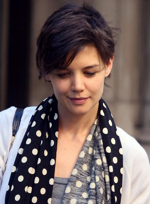 "Katie Holmes Short Pixie Haircut ""width ="" 465"