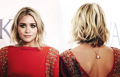 "Ashley Olsen Short Layered Wavy Bob Hairstyle for Women"" width=""465"