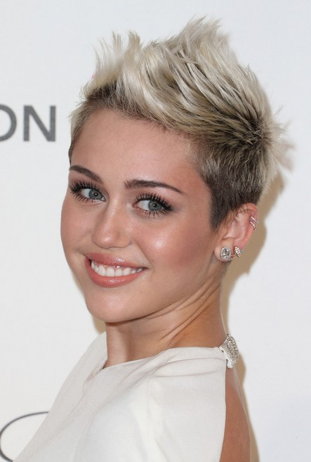 "Miley Cyrus Short Spiky Fauxhawk Haircut for Women"" width=""465"