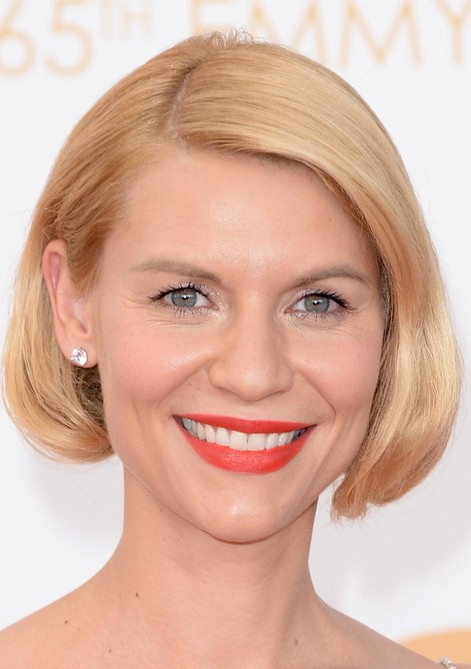 "Claire Danes Chic Short Blonde Bob Haircut without Bangs"" width=""465"