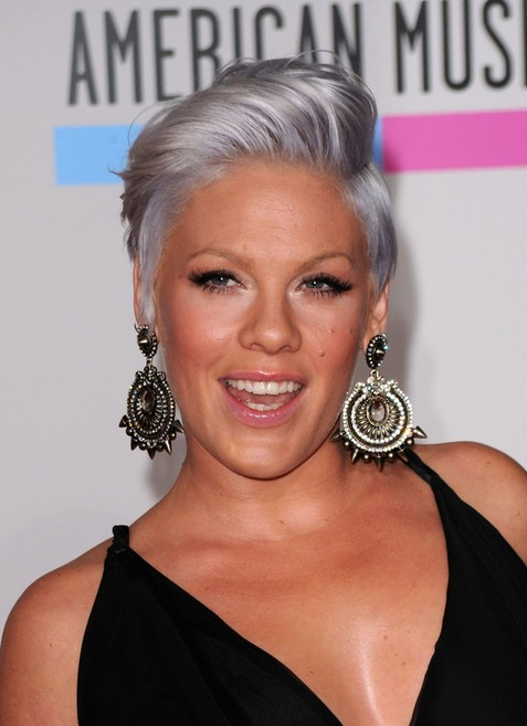 "Pink Short Side Part Haircut for Short Hair"" width=""465"