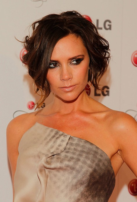 "Victoria Beckham Short Curly Bob Hairstyle for Women"" width=""465"