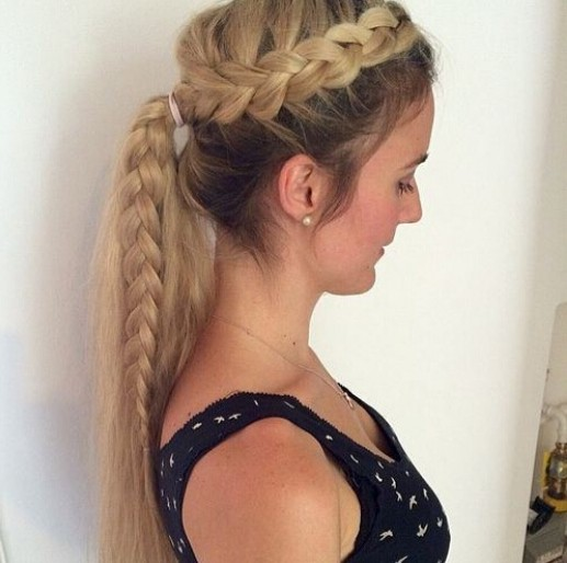 Side French Braid Ponytail