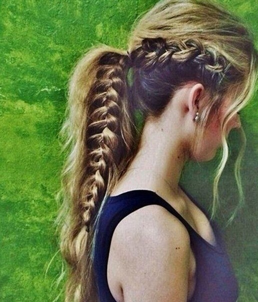 Side French Fishtail Braid Ponytail