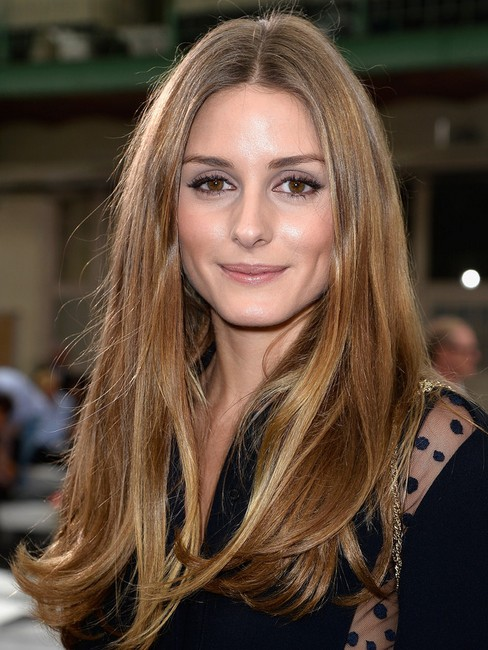 Olivia Palermo hairstyles 2014: smooth long haircuts