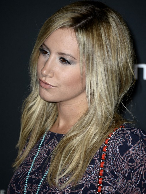 2014 Ashley Tisdale Hairstyles: Medium Straight Hair