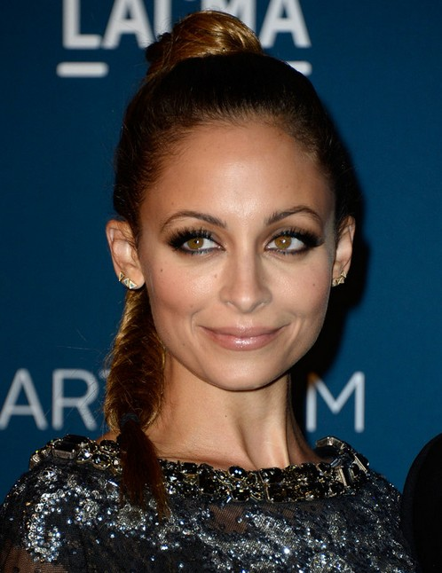 2014 Nicole Richie Hairstyles: Braided Ponytail