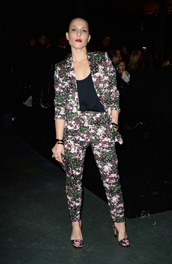 Noomi Rapace flower pants