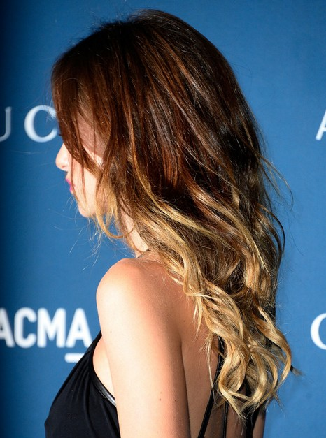2014 Olivia Wilde Hairstyles: Ombre hairstyle for long wavy hair