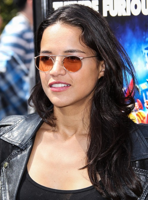 2014 Michelle Rodriguez Hairstyles: Casual Long Hair