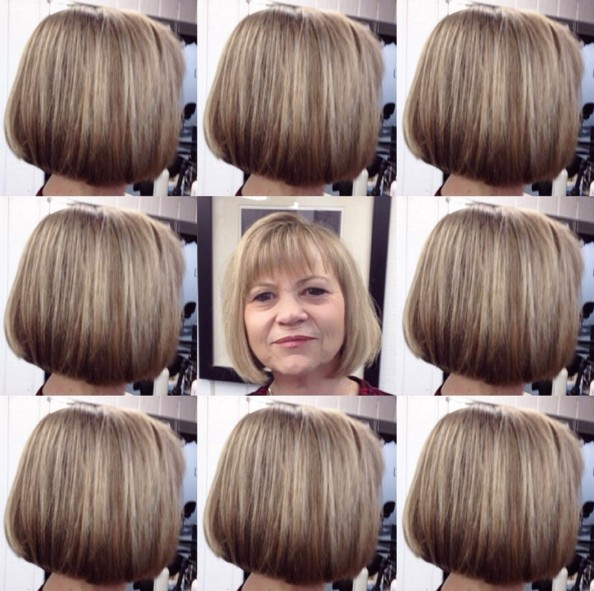 Short bob hairstyle for women over 50