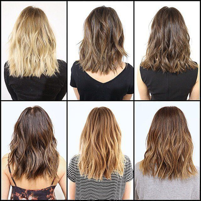 Colored medium wave hairstyles