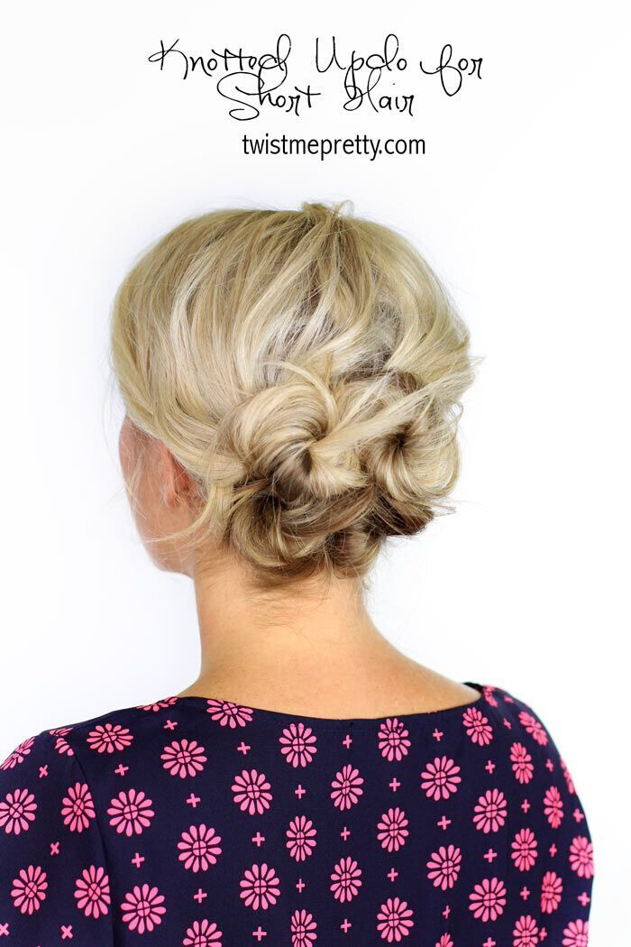 Simple updo for medium hair
