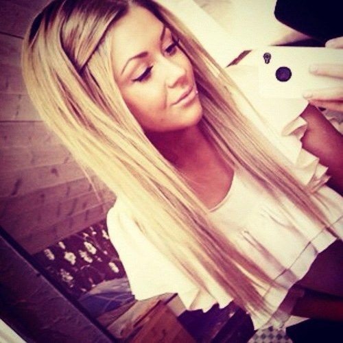 Long layered straight hairstyle