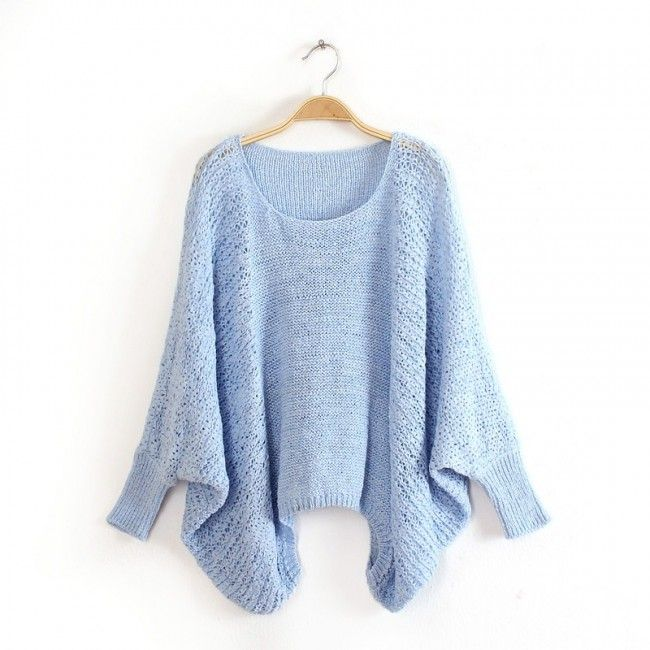 Sweet Candy Color Cutout Dolman Sweater for women 2014