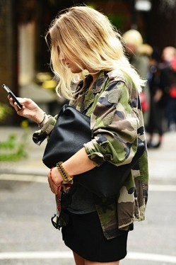 Military trend inspiration for spring 2014, camouflage jacket