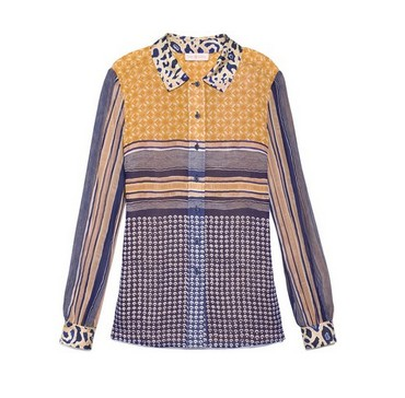 Tory Burch Angelique blouse, multiple printing, polka dots