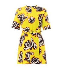 JONATHAN SAUNDERS Emilie dress with tulip print, yellow