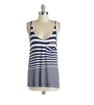 Blue over the sky tank stripes