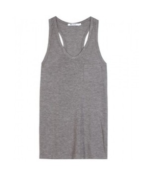 T by Alexander Wang Classic tank with pocket, slate gray