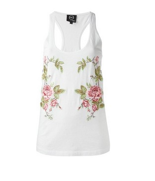 MCQ BY ALEXANDER MCQUEEN tank top with floral pattern, floral print and scoop neck