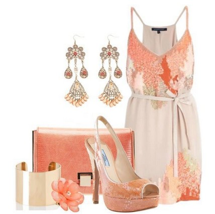 Daily outfit look, pink floral mini dress and sandals