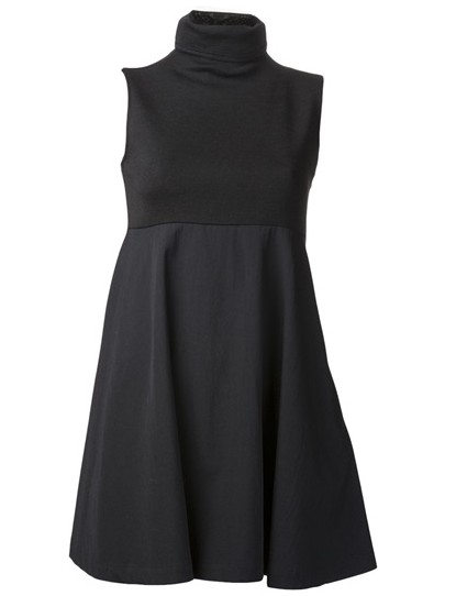 YOHJI YAMAMOTO turtleneck dress, black, empire waist