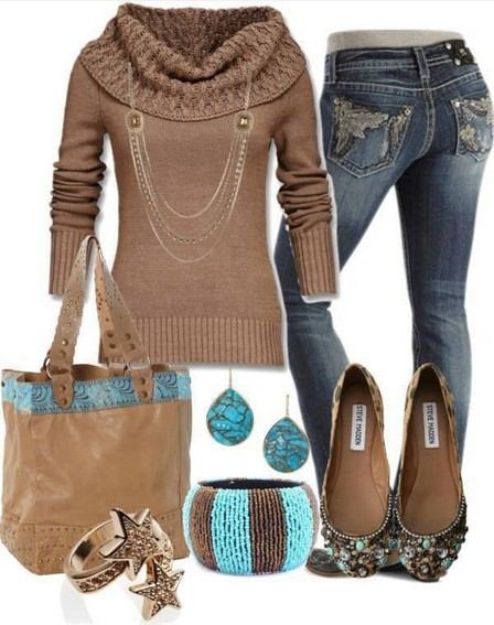 Brown's outfit, ethnic style accessories