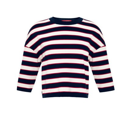 Valentino striped cotton jersey top, striped sweater