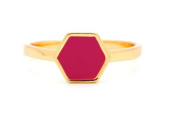 Gorjana Griffin Sunset Hexagon Ring, gold