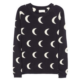 Chinti and Parker Moon inlaid cashmere black and white sweaters