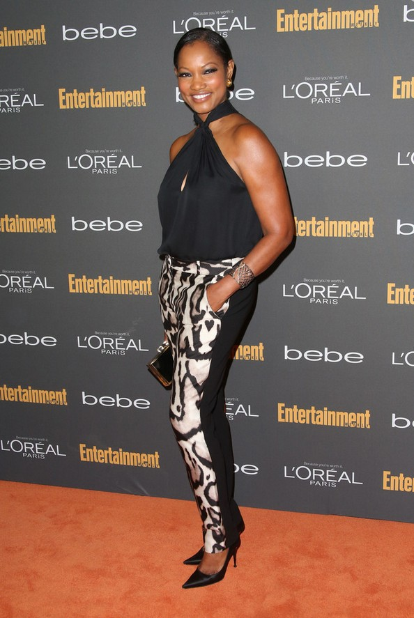 Garcelle Beauvais pants with animal motif