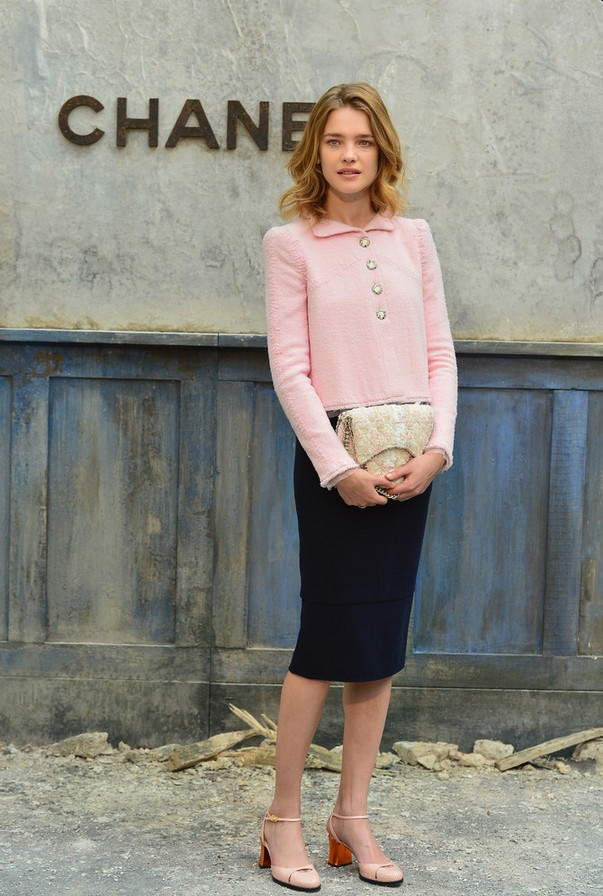 Natalia Vodianova Classic Powder Pink Fitted Jacket