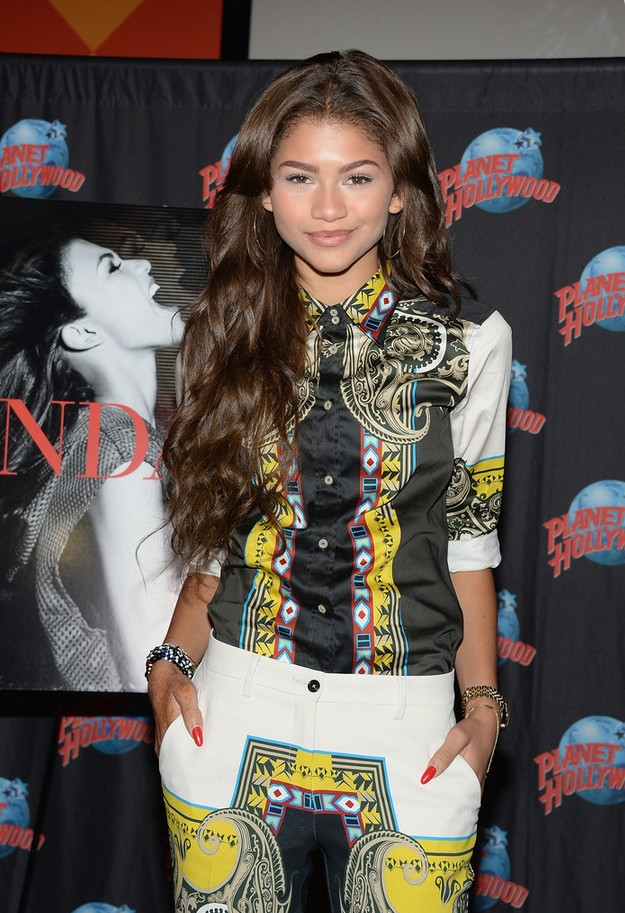 Button-down shirt with Zendaya Coleman print by Etro