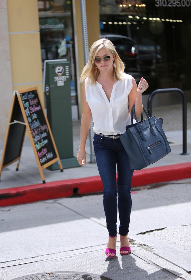 Reese Witherspoon Crisp white button-down shirt