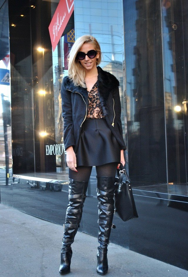 Stylish outfit ideas with over the knee boots