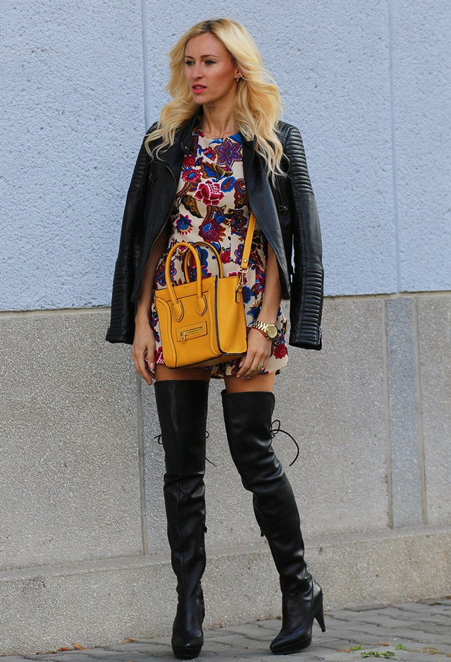 Chic over the knee boot outfit
